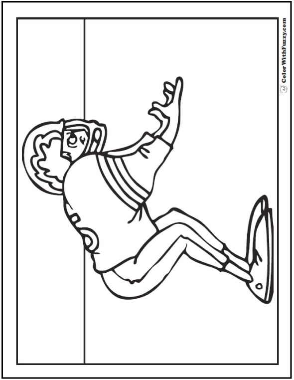 Receiver Football Coloring Sheet