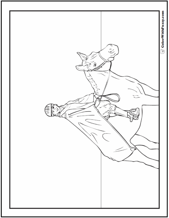Riding Horse Coloring Page: Rain Gear or Blanket