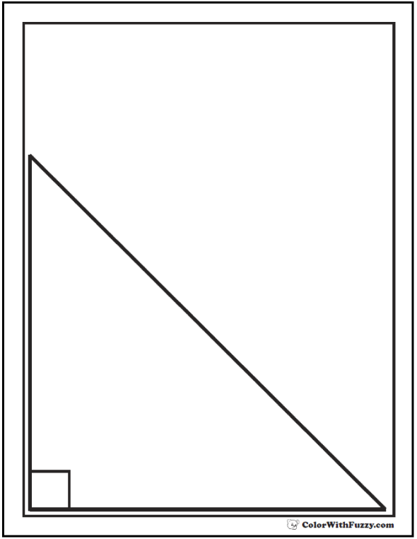 Angles coloring pages ~ 80+ Shape Coloring Pages Color Squares, Circles, Triangles
