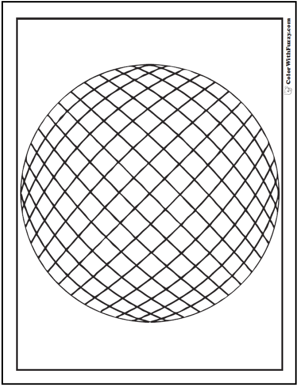 Rolling Grid On Sphere Coloring Picture