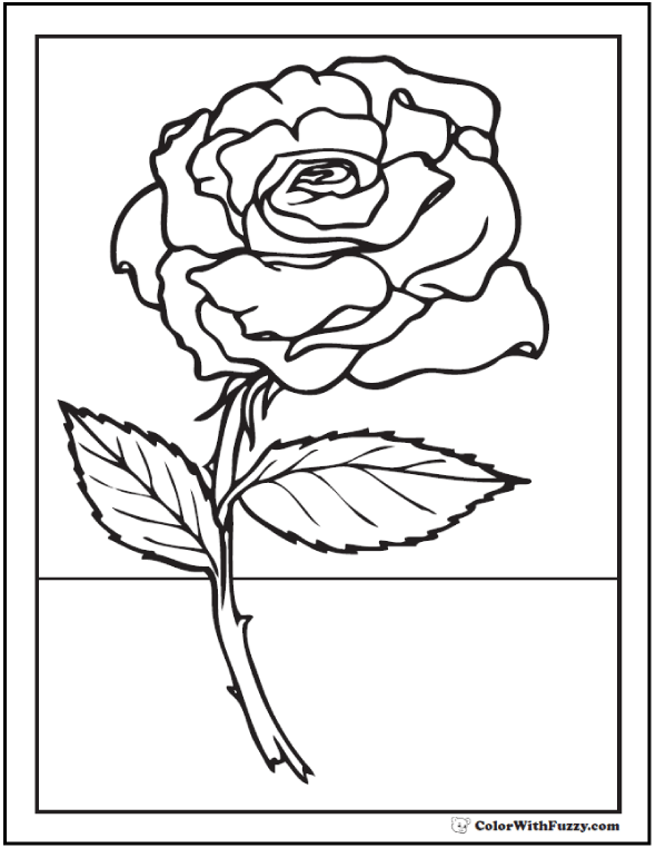 73+ Rose Coloring Pages ✨ Customize PDF Printables