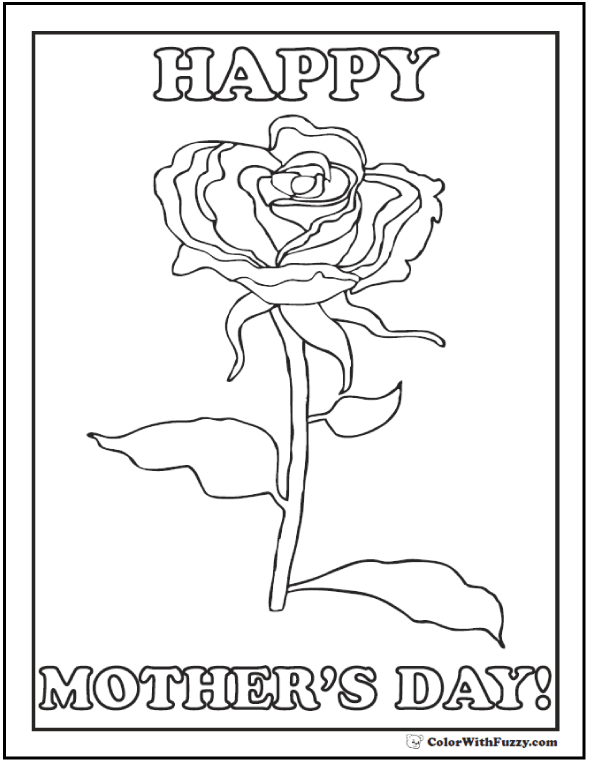 Single Rose For Mother
