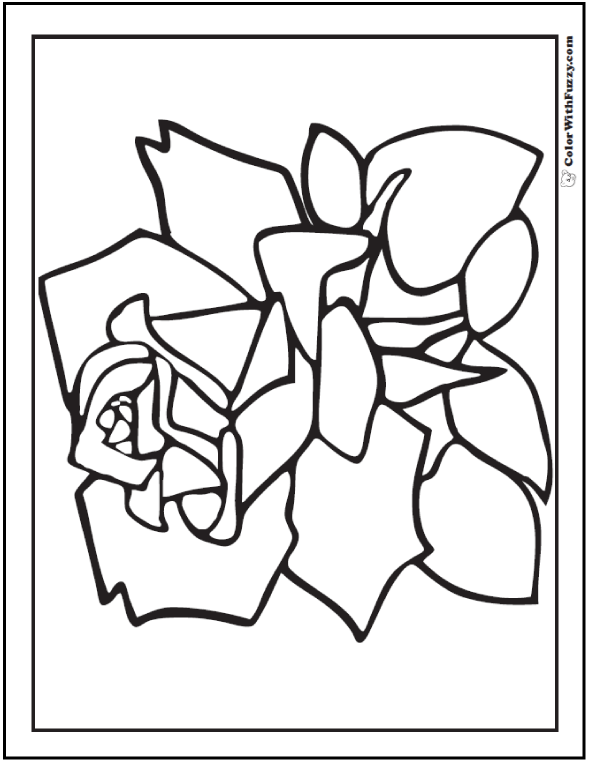 Preschool Rose Petals Coloring