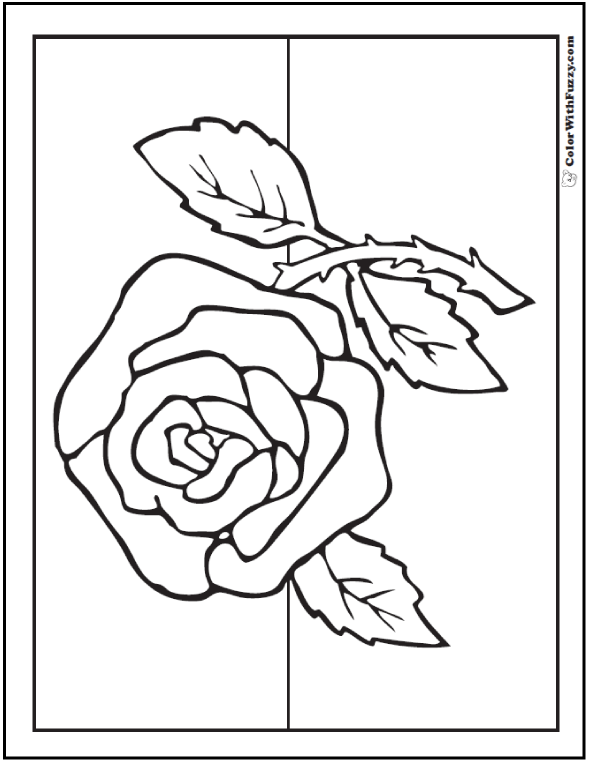 Rose Coloring Pages Pdf : Rose coloring pages customize pdf printables