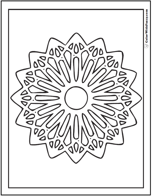 Pizzelle Rosette Coloring