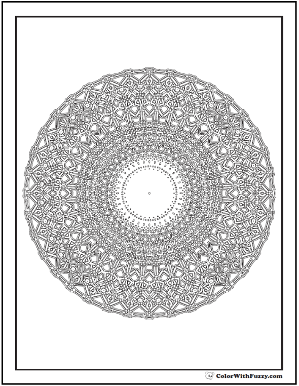 Intricate And Difficult Rosette Coloring Sheet