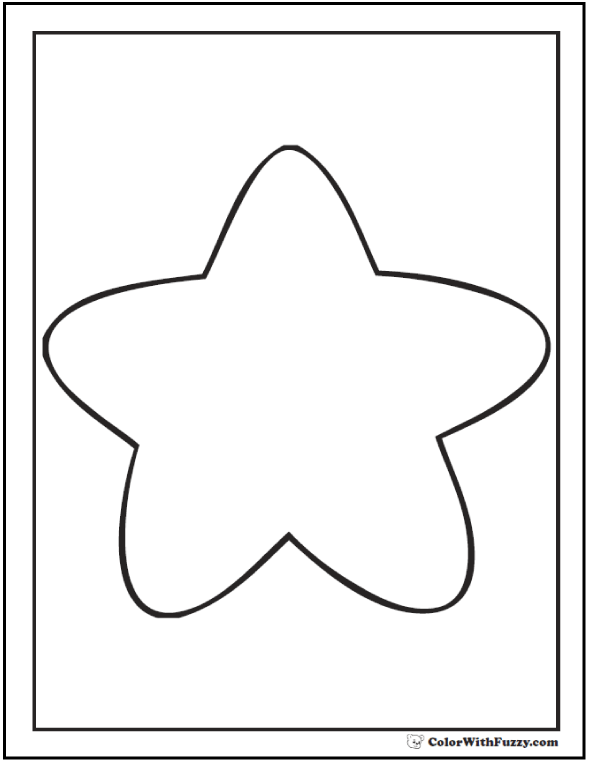 star coloring pages for toddlers - photo#30