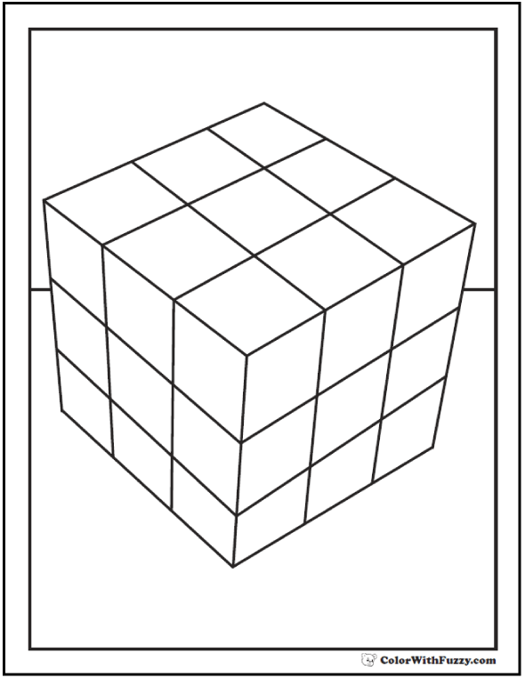 Rubics Cube For Coloring