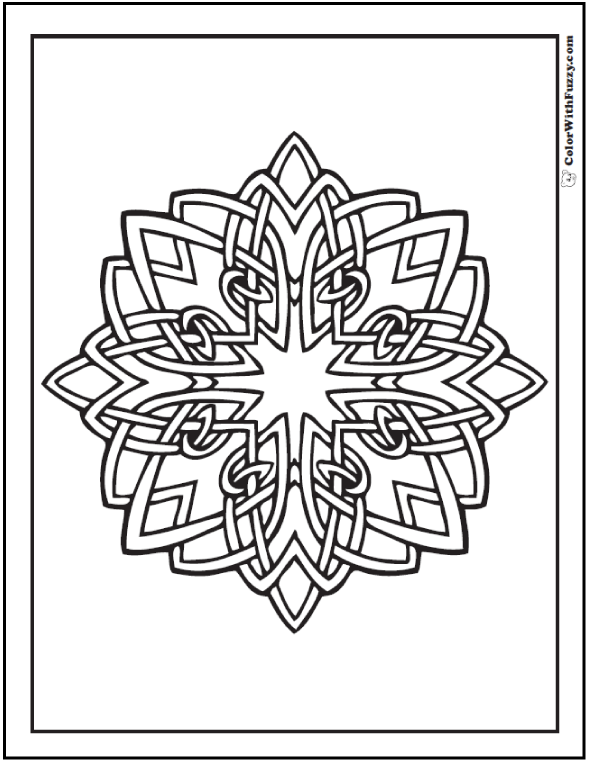 ColorWithFuzzy.com Celtic Designs:  Shannon Celtic Coloring