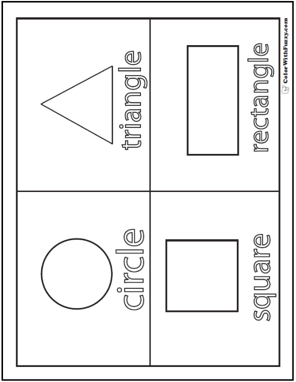 coloring pages and shapes | Shape Coloring Pages: Customize And Print