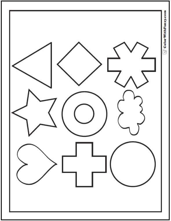 three dimensional shapes coloring pages - photo#21
