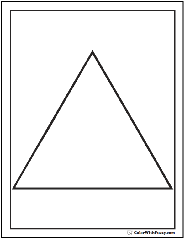 image about Printable Triangles named 80+ Condition Coloring Internet pages ✨ Shade Squares, Circles, Triangles