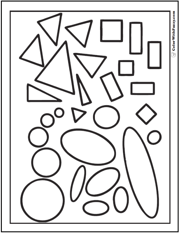 Shapes For Coloring And Cutting