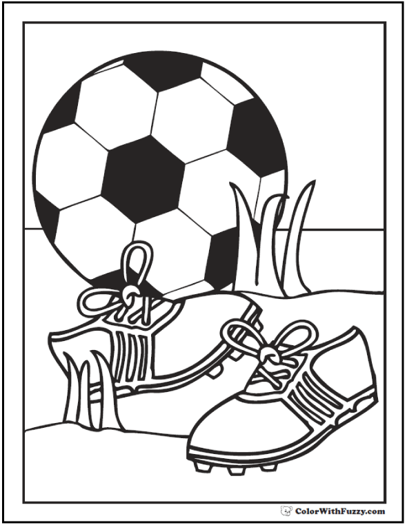 Soccer Shoes and Ball Coloring