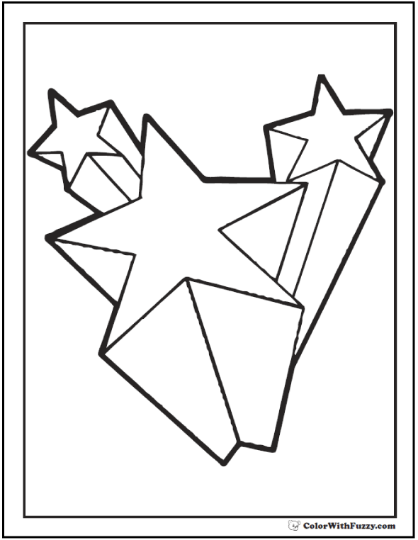 free coloring stars pages - photo#4