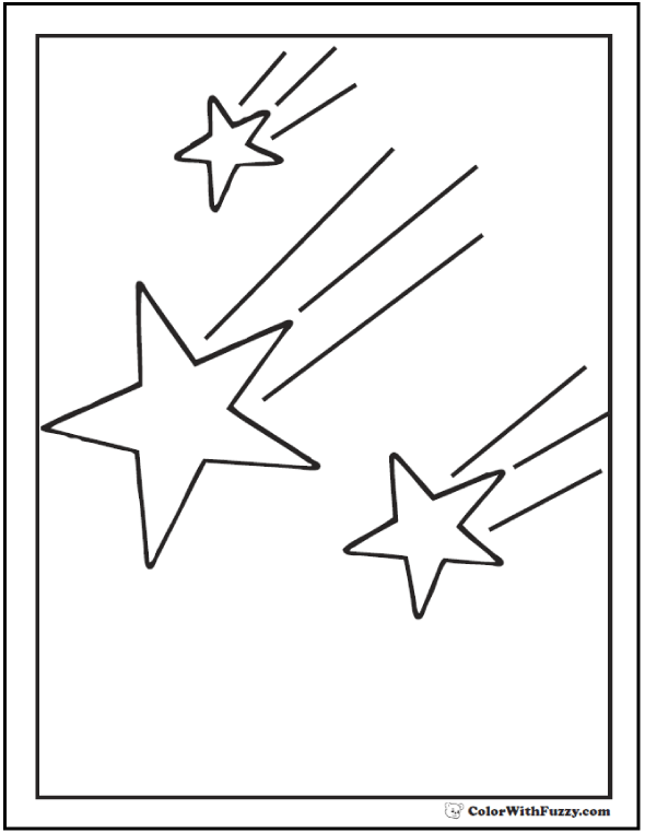 coloring pages shooting star - photo#38