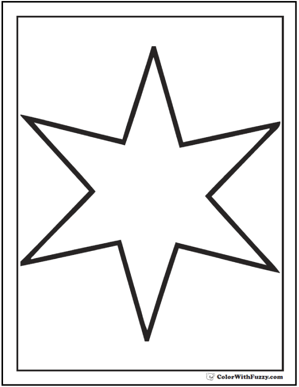 Six point star coloring