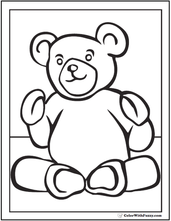 Snuggly Teddy Bear Printable