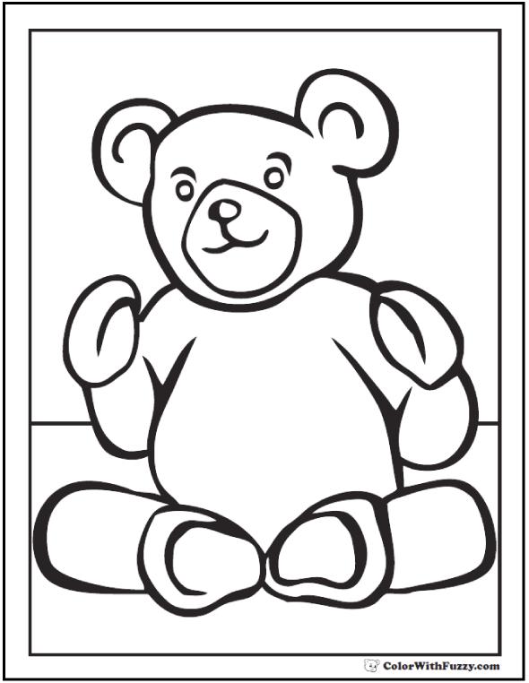 Snuggly Teddy Bear Printable