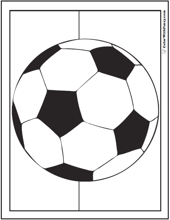 Pre-K Soccer Ball To Color