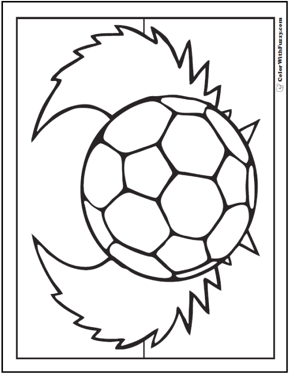 Angel Wing Soccer Ball Coloring