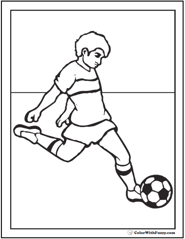 Wingback Soccer Coloring Sheets