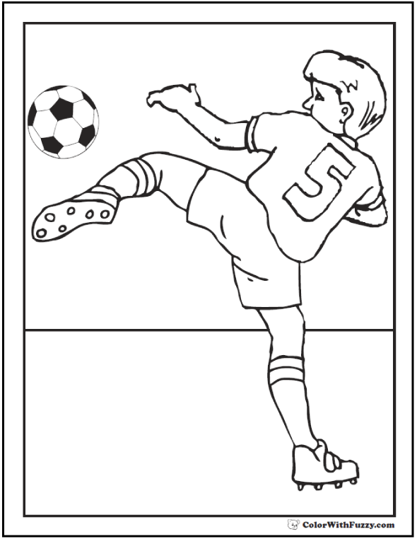 Goal Keeper Soccer Coloring
