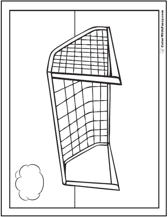 Soccer Goal Coloring Sheet