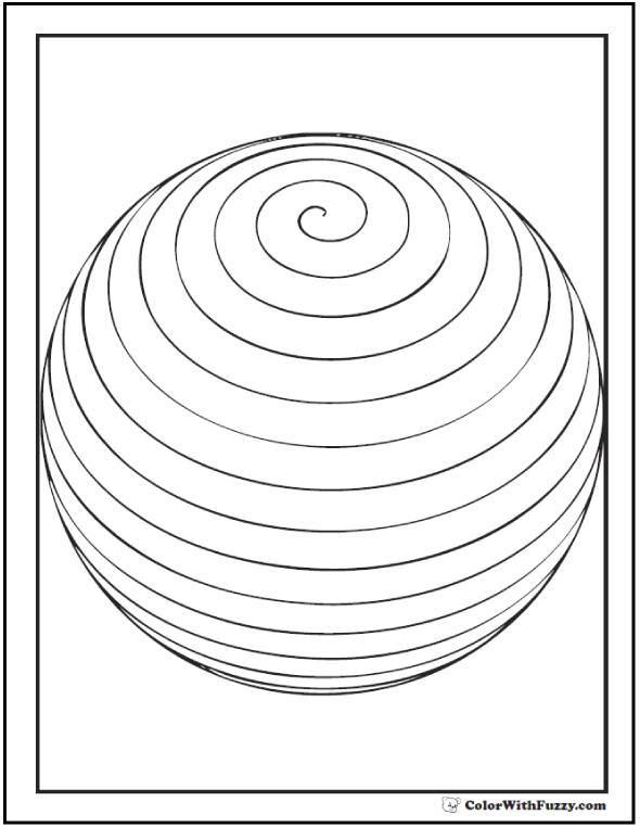 spiral coloring pages to print | Shape Coloring Pages: Customize And Print