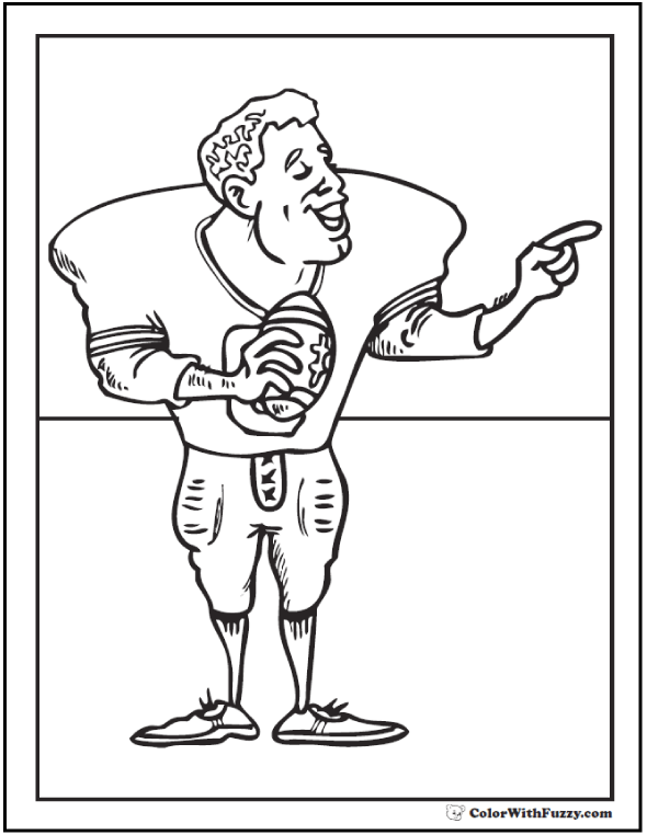 Quarterback Sport Coloring Pages Football