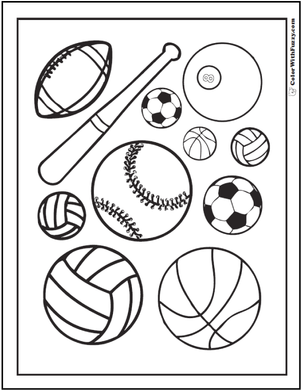 121 Sports Coloring Sheets Customize