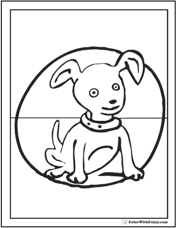 Spot the dog coloring page.
