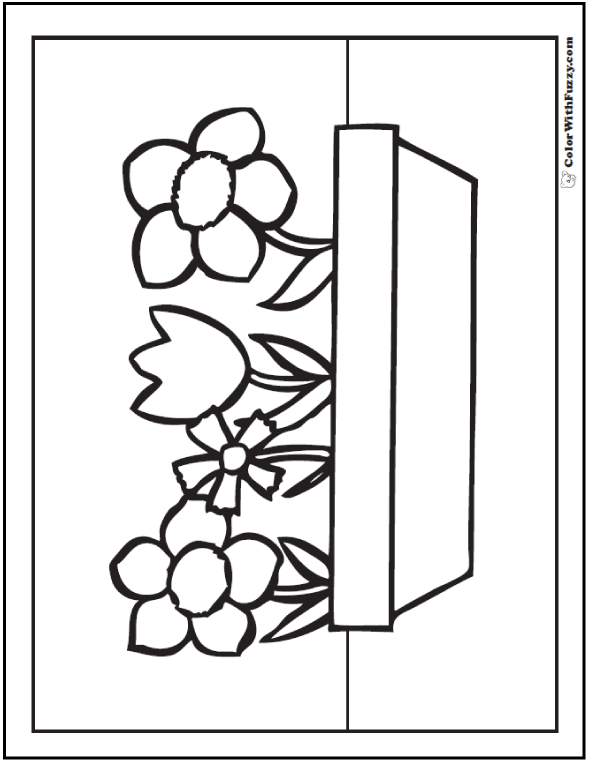Flower Planter - Spring Flower Coloring Pictures