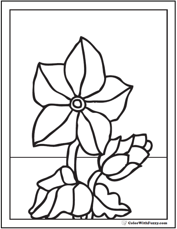 Spring Flowers Coloring Pages - Primrose In Bloom