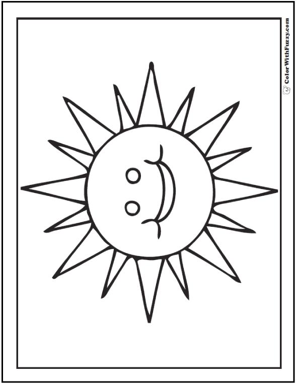 Spring Sun Coloring Sheet
