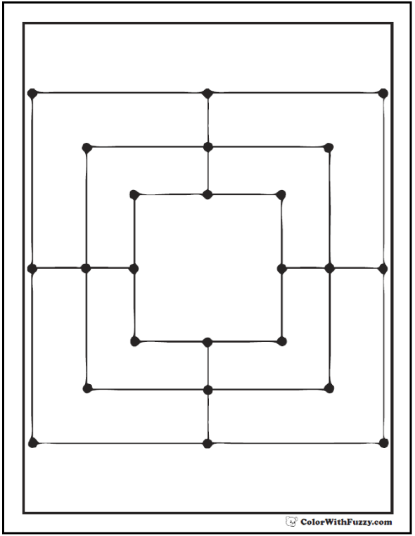 Nested Squares To Color