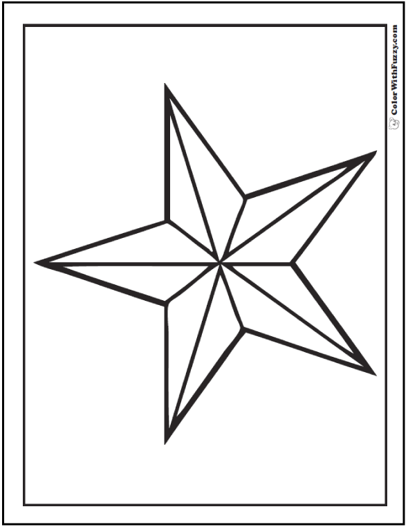 Military star Fourth of July coloring page.