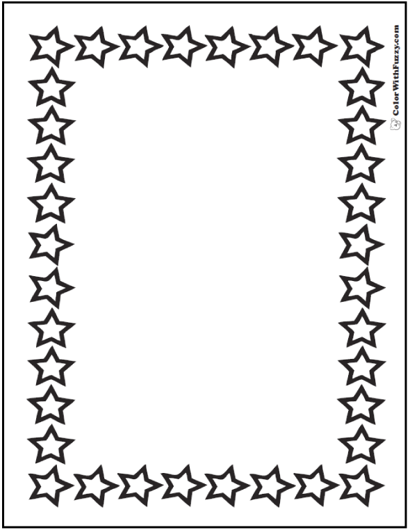 Star Coloring Border