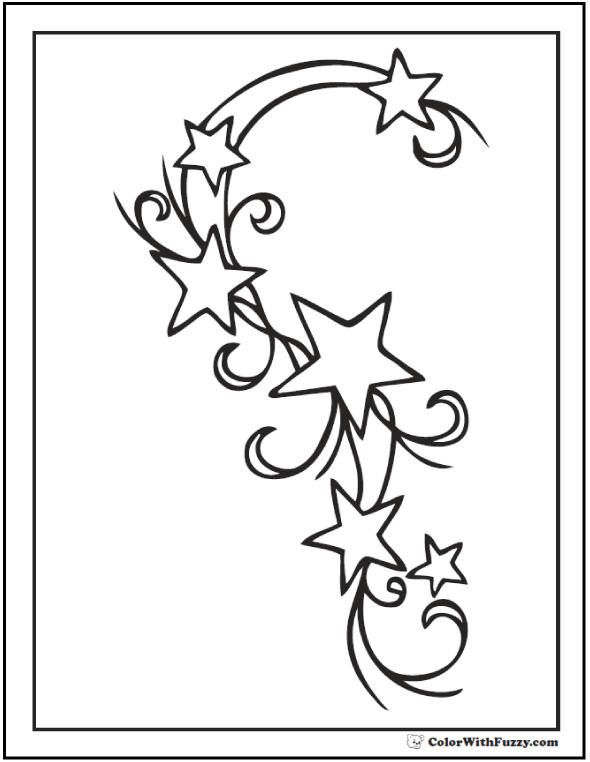 Swirled Six Star Coloring Page