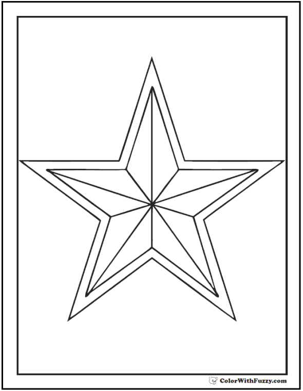free coloring stars pages - photo#44
