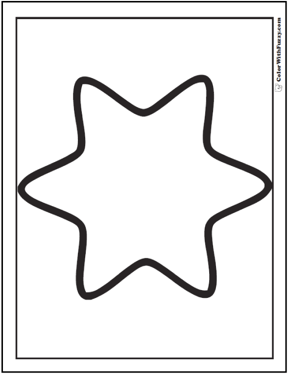 Rounded Star Coloring Printable
