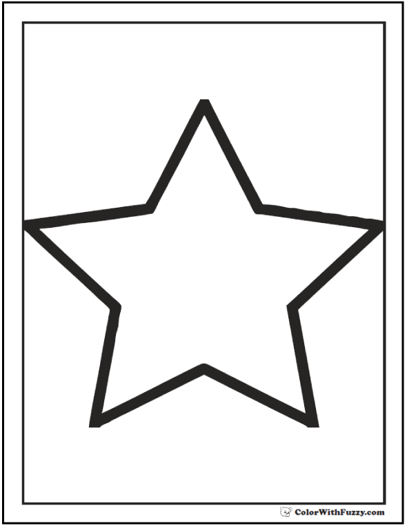 Star Shape Coloring Sheet