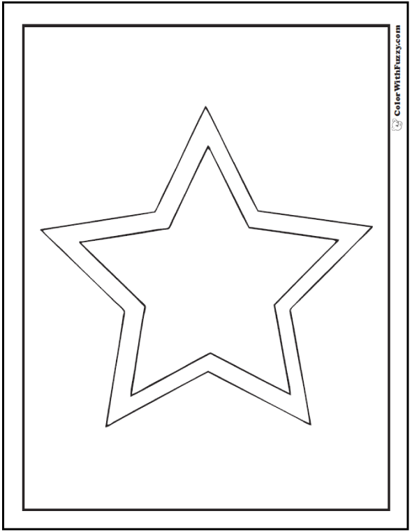 Double Star Coloring Page