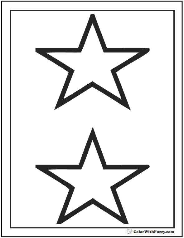 Two Stars Coloring Pages