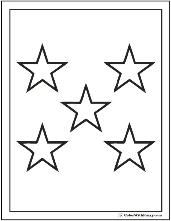 free coloring stars pages - photo#8