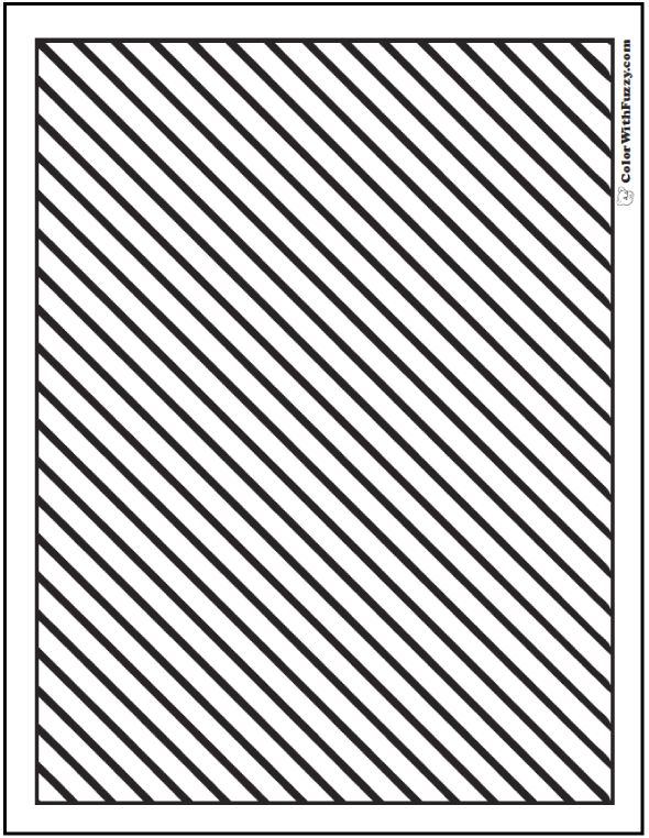 Striped Pattern Coloring Pages