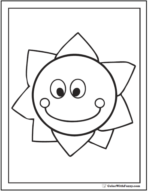 Preschool Sun Coloring Pages