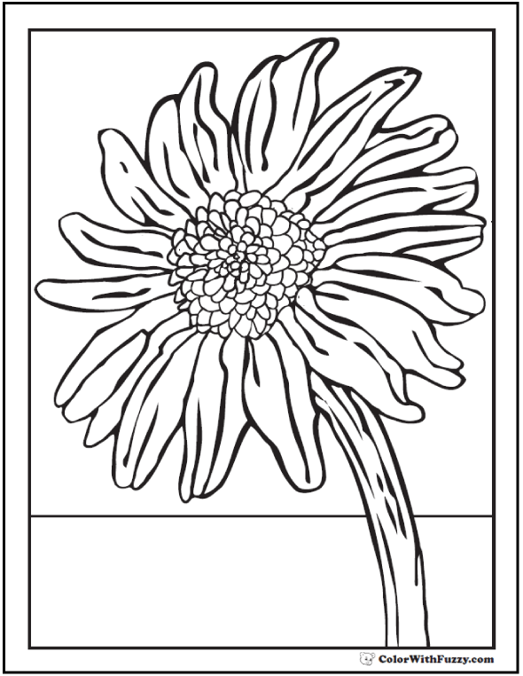 Bright Sunflower Coloring Pages