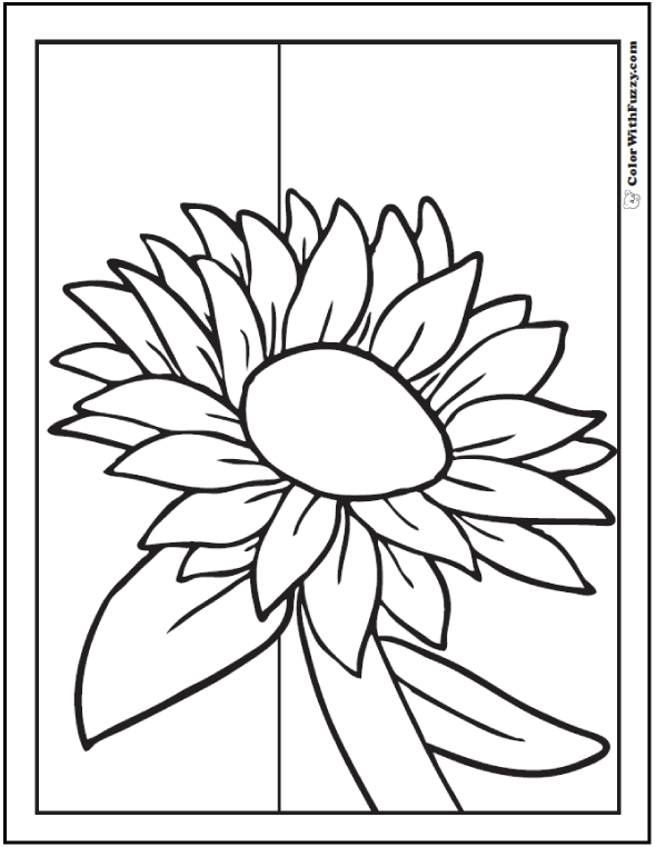 big sunflower coloring pages - photo#21