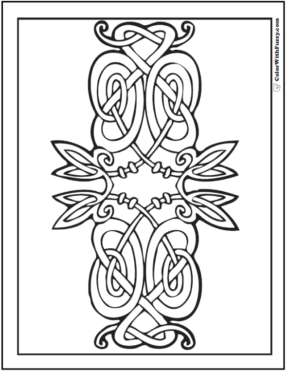 ColorWithFuzzy.com Celtic Coloring Pages: Celtic Symetrical Coloring